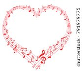 music of love  music notes in... | Shutterstock .eps vector #791979775