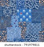 denim bandana pattern | Shutterstock . vector #791979811