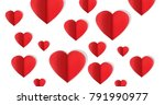 valentines day design with... | Shutterstock . vector #791990977