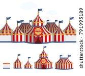 circus tent cartoon vector...   Shutterstock .eps vector #791995189