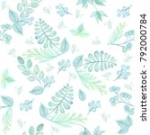 seamless pattern with high... | Shutterstock . vector #792000784