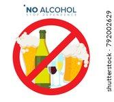 no alcohol sign vector. strike... | Shutterstock .eps vector #792002629