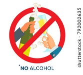 no alcohol sign vector. strike... | Shutterstock .eps vector #792002635