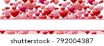 valentines day design with... | Shutterstock . vector #792004387
