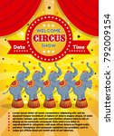 vector illustration of a circus ... | Shutterstock .eps vector #792009154