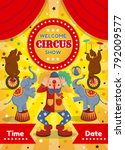 vector illustration of a circus ...   Shutterstock .eps vector #792009577