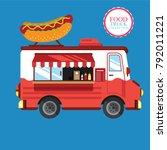 food truck hot dog   Shutterstock .eps vector #792011221