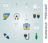 icon set about connectors... | Shutterstock .eps vector #792011665