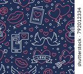 valentines day seamless pattern....