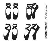 vector black silhouette set of... | Shutterstock .eps vector #792012667