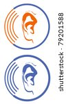 two logos for cave audiologist | Shutterstock . vector #79201588