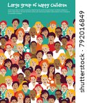 children crowd group... | Shutterstock .eps vector #792016849