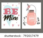 greeting card for st.... | Shutterstock .eps vector #792017479