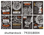 set of vector hand drawn... | Shutterstock .eps vector #792018004