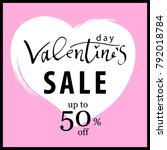valentine's day sale banner.... | Shutterstock .eps vector #792018784