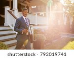 businessman with cup of coffee...   Shutterstock . vector #792019741