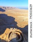 ruins of masada fort  ancient...   Shutterstock . vector #792023629