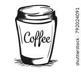 coffee cup logo vector... | Shutterstock .eps vector #792024091