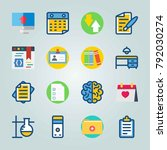 icon set about education and... | Shutterstock .eps vector #792030274