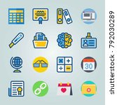 icon set about education and... | Shutterstock .eps vector #792030289
