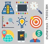 icons set about marketing | Shutterstock .eps vector #792031384