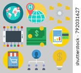 icons set about marketing | Shutterstock .eps vector #792031627