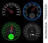 speedometers. sport black... | Shutterstock .eps vector #792032524
