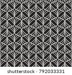 vector floral art nouveau... | Shutterstock .eps vector #792033331