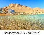 panorama of ein bokek with...   Shutterstock . vector #792037915