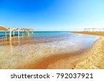 panorama of ein bokek with...   Shutterstock . vector #792037921