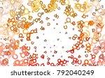 light yellow  orange vector...   Shutterstock .eps vector #792040249