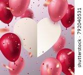 happy valentine's day. vector... | Shutterstock .eps vector #792040531