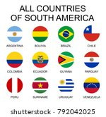vector illustration all flags... | Shutterstock .eps vector #792042025