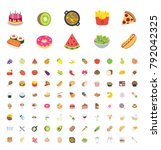 food and beverages  fruits ... | Shutterstock .eps vector #792042325