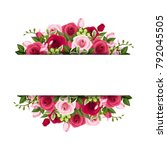 vector banner with red and pink ... | Shutterstock .eps vector #792045505