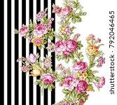 silk scarf design  fashion... | Shutterstock . vector #792046465
