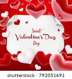 valentine s day many hearts... | Shutterstock .eps vector #792051691