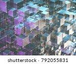 3d illustration  abstract... | Shutterstock . vector #792055831