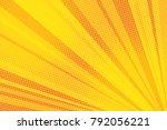 pop art yellow background light ... | Shutterstock .eps vector #792056221