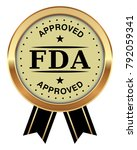 fda approved badge | Shutterstock .eps vector #792059341