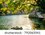 low verdon gorge in the spring. ... | Shutterstock . vector #792063541