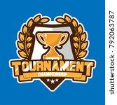tournament trophy logo    Shutterstock .eps vector #792063787