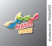 vector new orleans mardi gras... | Shutterstock .eps vector #792063925
