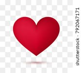 soft red heart with transparent ... | Shutterstock .eps vector #792067171