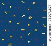 pattern seamless memphis retro... | Shutterstock .eps vector #792071827