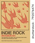 indie rock poster flyer template | Shutterstock .eps vector #792076474