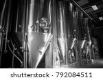 craft beer brewery equipment | Shutterstock . vector #792084511