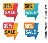 promotion sale banners | Shutterstock .eps vector #792088195