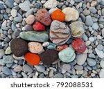 Pile Of Colorful Sea Pebble...