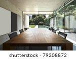Modern House Interior  Wooden...
